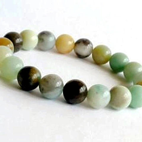 Amazonite Power Bracelet for Communication-8mm - New Earth Gifts