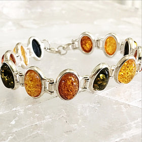 Amber Sterling Bracelet | New Earth Gifts