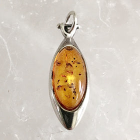 Baltic Amber Pendant Marquis Style - New Earth Gifts