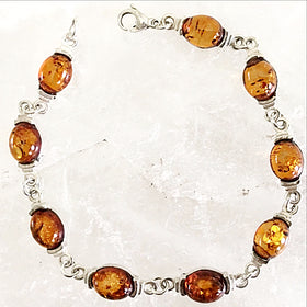Baltic Amber Sterling Silver Bracelet - New Earth Gifts