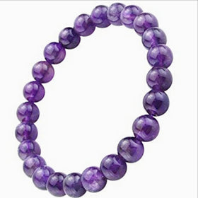 Amethyst Power Bracelet for Serenity and Healing-8mm | New Earth Gifts