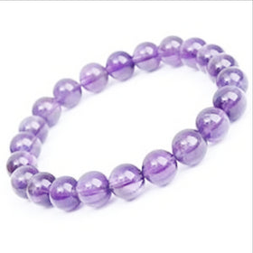 Amethyst Power Bracelet for Serenity and Healing-6mm | New Earth Gifts