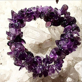 Amethyst 3 Strand Cuff Bracelet - New Earth Gifts