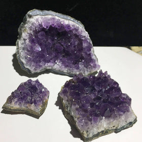 Amethyst Druse 3 Pc Specimen Set - New Earth Gifts
