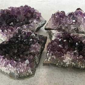 Amethyst Druse 4 pc Specimens Set - New Earth Gifts