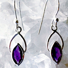 Sweetheart Amethyst Sterling Silver Earrings - New Earth Gifts