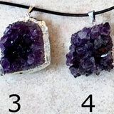 Amethyst Brazilian Drusy Foil Wrap Pendants 40mm - New Earth Gifts