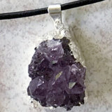 Amethyst Drusy Pendant 35mm Foil Wrap | New Earth Gifts