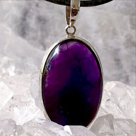Amethyst Sterling Silver Oval Pendant - New Earth Gifts