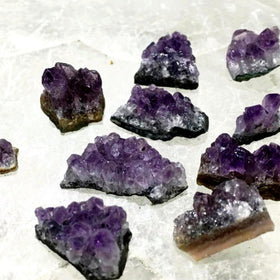 Amethyst 10 Piece Mini Druse Packs for Craft and Jewelry Supply - New Earth Gifts