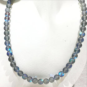 Angel Aura Frosted Blue Quartz Necklace - New Earth Gifts