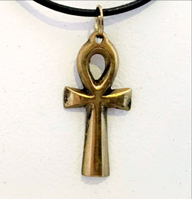 Ankh Cross Brass Pendants - New Earth Gifts