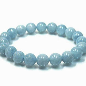 Aquamarine Power Bracelet to Calm the Mind-8mm - New Earth Gifts