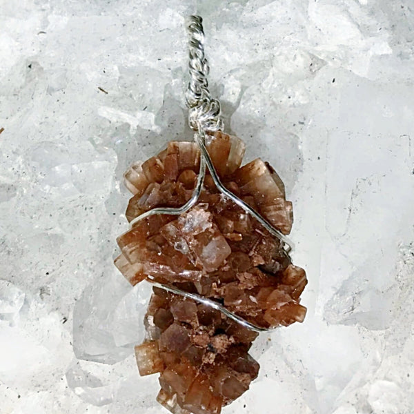 Aragonite Natural Crystal Pendant | New Earth Gifts