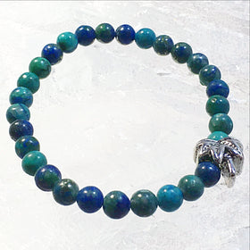 Azurite Bracelet with Palm Tree Charm - New Earth Gifts