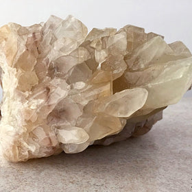 Clear Calcite Specimen with Touches of Gold Calcite | New Earth Gifts