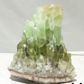 Green Calcite Specimen for Clearing Negativity. The soft beautiful color is comforting
