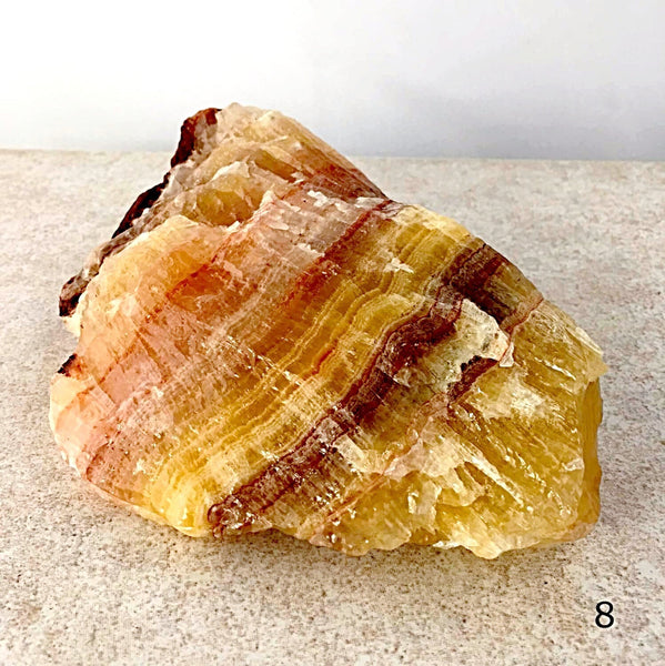 Banded Tri-Colored Calcite-New Earth gifts