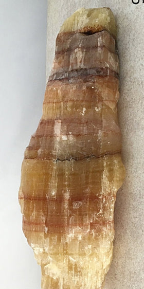 Banded Calcite Specimen for Rockhounds | New Earth Gifts