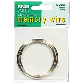 "Beadsmith Silver Plated Memory Wire 2"" Bracelet Diameter 