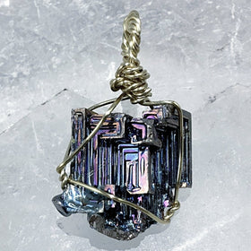 Bismuth Pendant Unique Shape and Color -New Earth Gifts