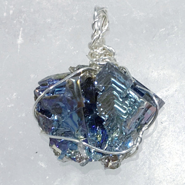 Bismuth Pendant Unique Geometrix Design - New Earth Gifts