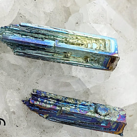 Two Bismuth Specimens for Crafts and Jewelry Making - New Earth Gifts