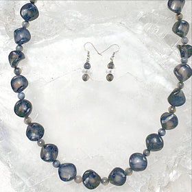 Black Agate Beaded Necklace Set | New Earth Gifts