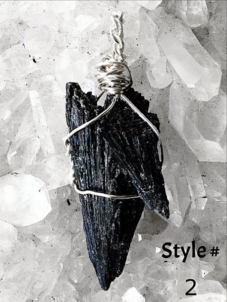 Black Kyanite Pendant - New Earth Gifts