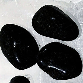 Black Onyx Tumbled Stone 1 pc - New Earth Gifts