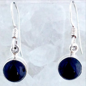 Sterling Black Onyx Dangle Earrings -New Earth Gifts
