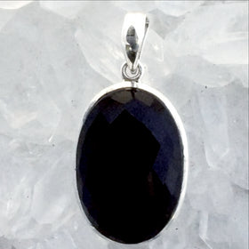 Sterling Black Onyx Faceted Pendants -New Earth Gifts
