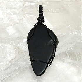 Tumbled Gemstone Pendant - Black Onyx For Sale New Earth Gifts