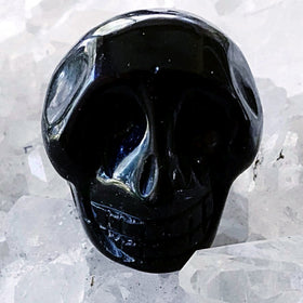 Black Onyx Gemstone Skull 25mm - New Earth Gifts