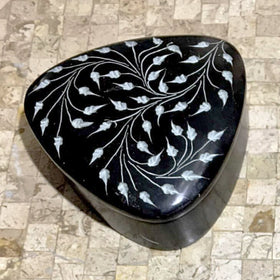 Soapstone Black Trinket Box - New Earth Gifts