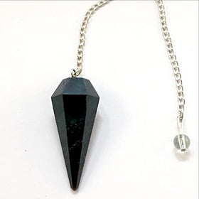 Bloodstone Faceted Pendulum - New Earth Gifts