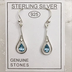 Blue Topaz Sterling Earrings - new earth gifts