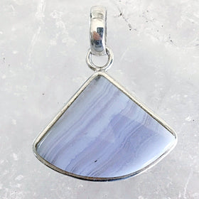 Blue Lace Agate Sterling Pendant | New Earth Gifts