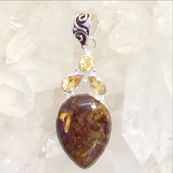Bronzite Teardrop Pendant - New Earth Gifts