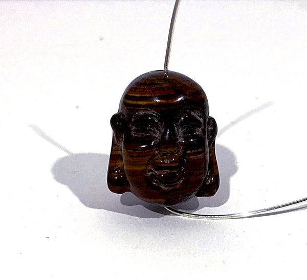 Buddha Face Bead - Genuine Tiger Eye | New Earth Gifts