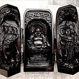Buddha in Temple with Opening Doors - New Earth Gifts