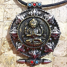 Buddha Wheel of Dharma Pendant - New Earth Gifts
