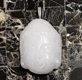 Buddha White Jade Pendant - New Earth Gifts