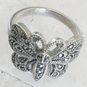 Butterfly Ring in Sterling Silver | New Earth Gifts