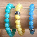 Candy Jade 8mm Beaded Bracelets in Fun Bright Colors - New Earth Gifts