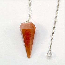 Carnelian Faceted Pendulum - New Earth Gifts