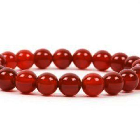 Carnelian Power Bracelet for Creativity and Vitality-6mm - New Earth Gifts