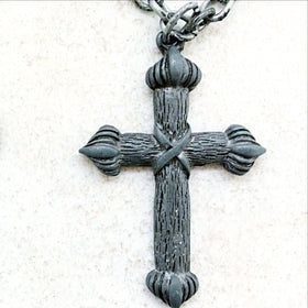Celtic Style Cross on Long Link Chain - New Earth Gifts