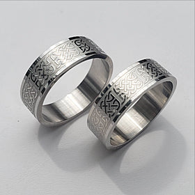 Stainles steel ring - new earth gifts