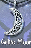 Celestial Pewter Pendant-Celtic Moon | New Earth Gifts